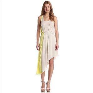 Bcbg open back asymmetric dress